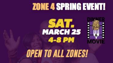 Zone 4 – Dinner & Movie Event