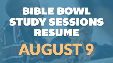 Bible Bowl Practice Resumes – 8/9