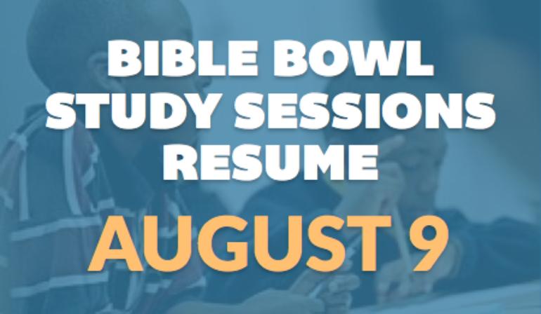Bible Bowl Practice Resumes – 8/9