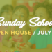 Sunday School Open House – 7/23