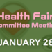 Health Fair Committee Meeting – 1/28