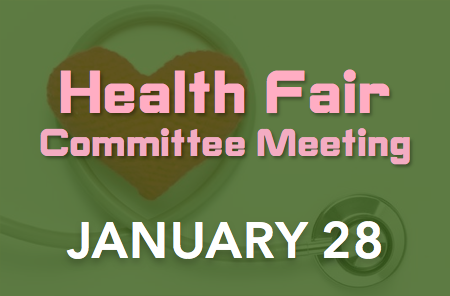 Health Fair Committee Meeting – 1/28